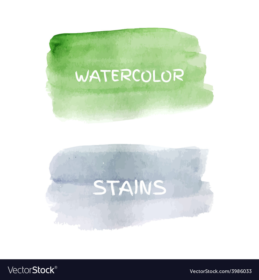 Set of watercolor stains vector | Price: 1 Credit (USD $1)