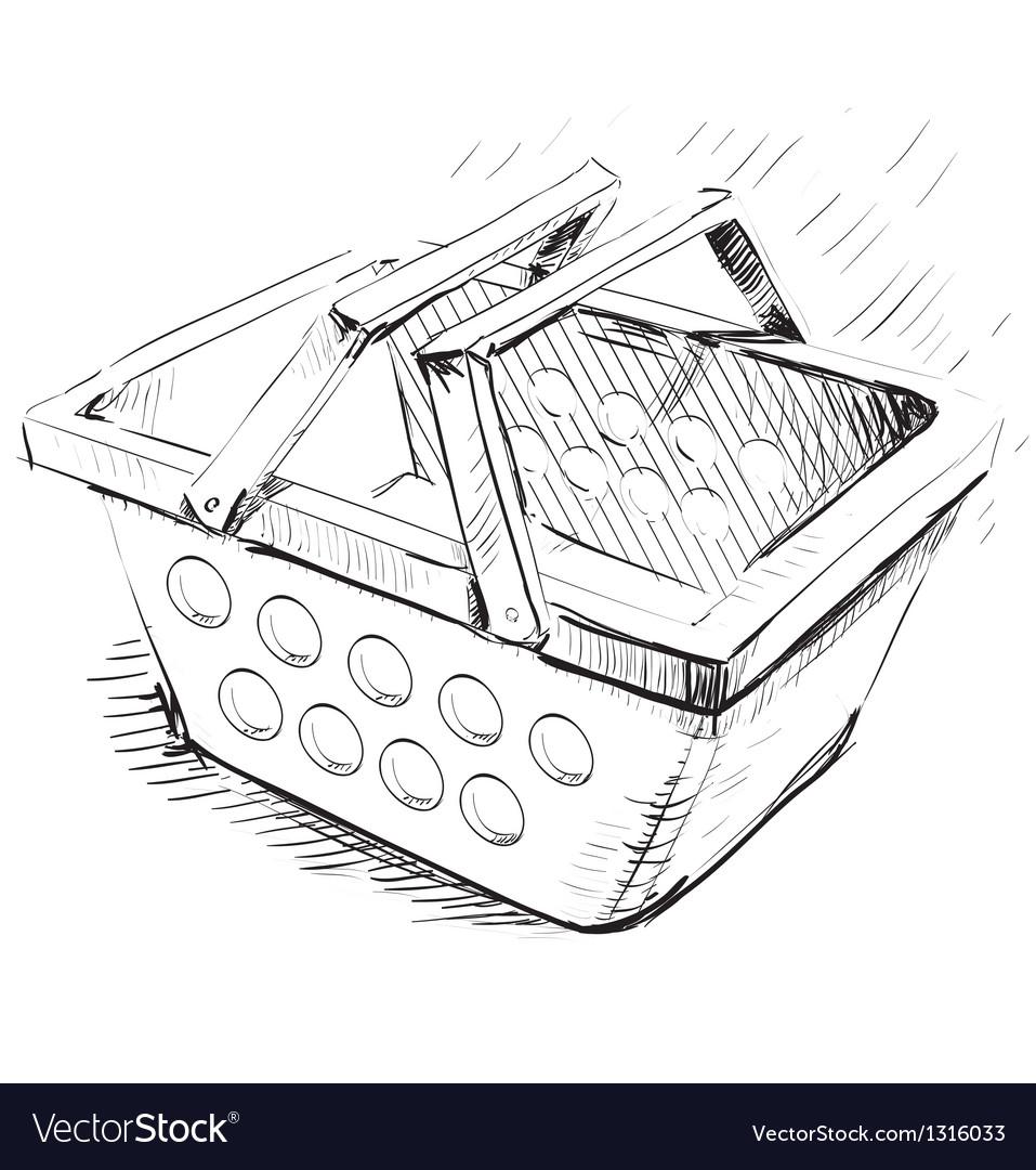 Supermarket food basket vector | Price: 1 Credit (USD $1)