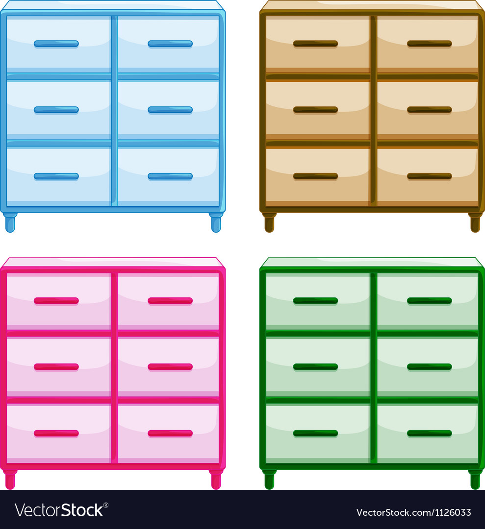 Tables with drawers vector | Price: 1 Credit (USD $1)