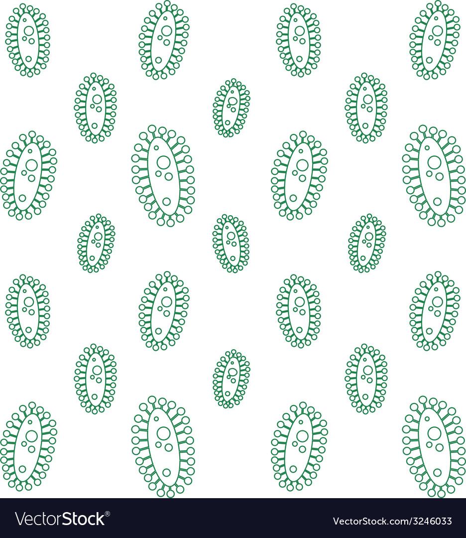 Virus seamless pattern vector | Price: 1 Credit (USD $1)