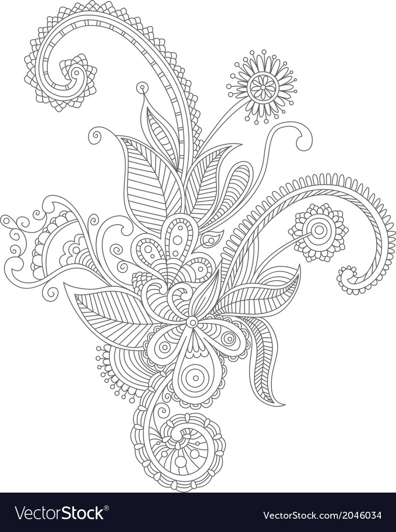 Abstract flourish background vector | Price: 1 Credit (USD $1)