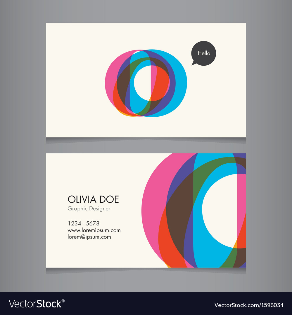 Business card template letter o vector | Price: 1 Credit (USD $1)