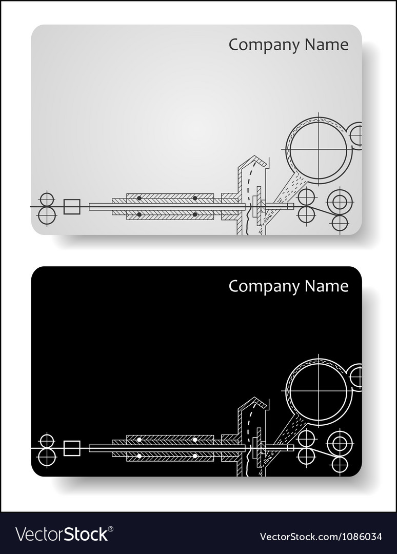 Business cards for the engineer vector | Price: 1 Credit (USD $1)