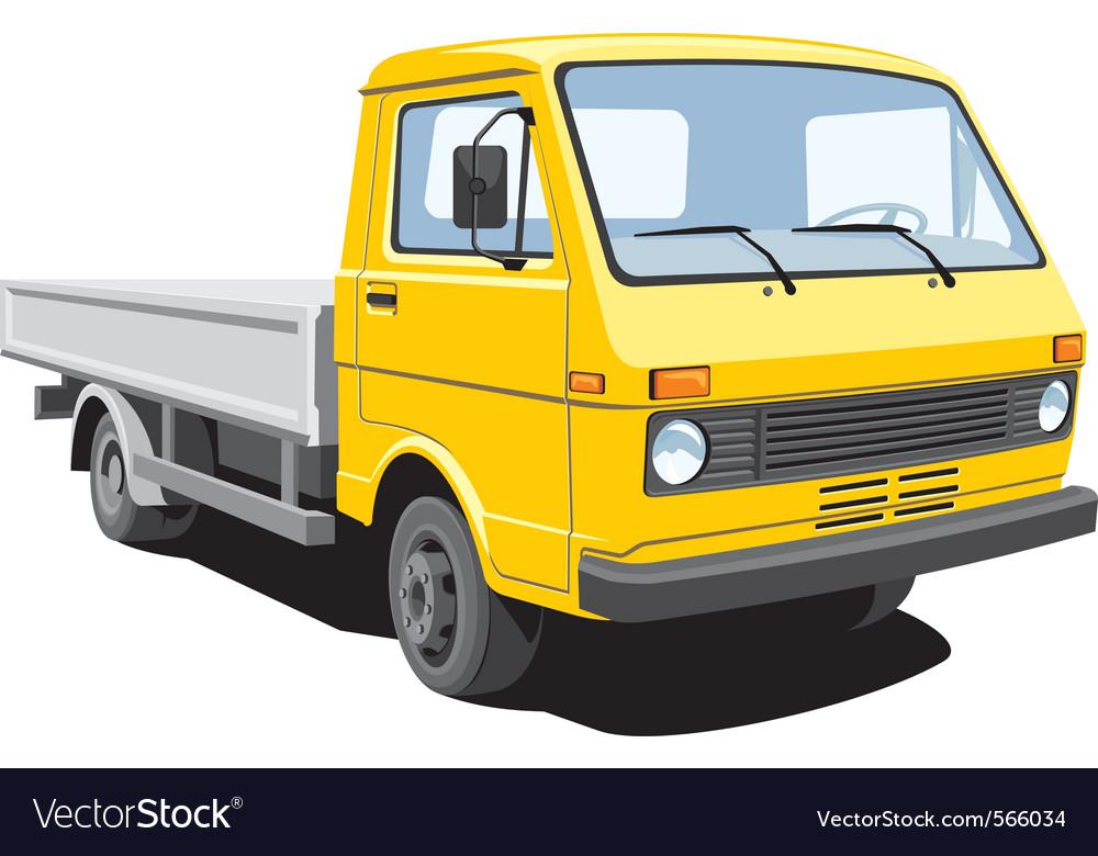Cargo truck vector | Price: 3 Credit (USD $3)