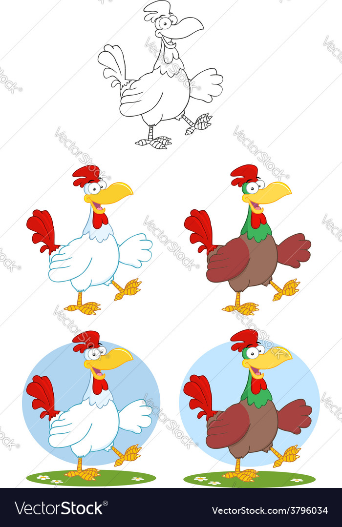 Cartoon chicken chef vector   Price: 1 Credit (USD $1)