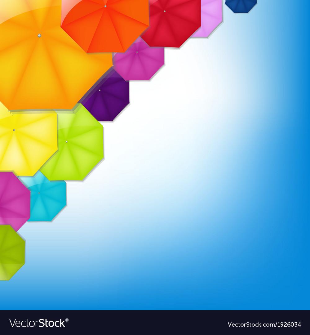 Color umbrellas vector | Price: 1 Credit (USD $1)