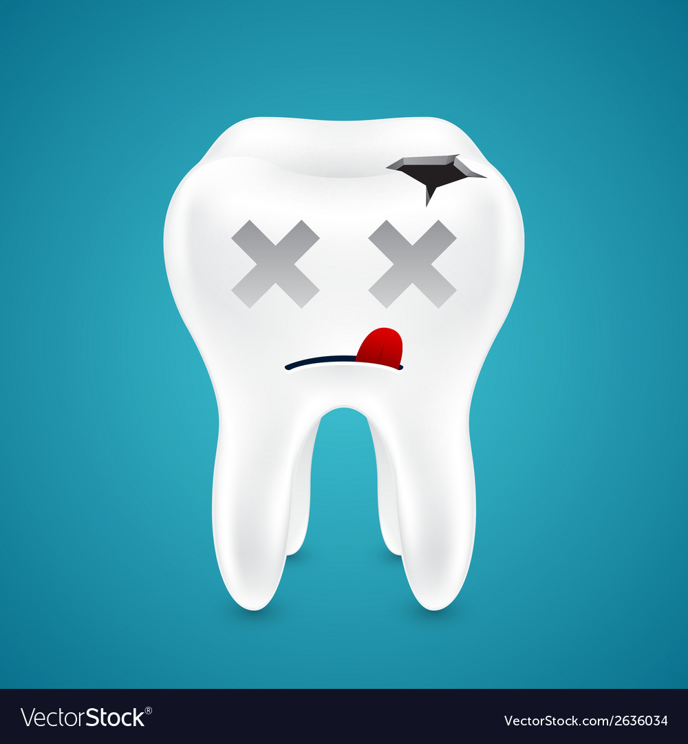 Dead from tooth holes vector | Price: 1 Credit (USD $1)
