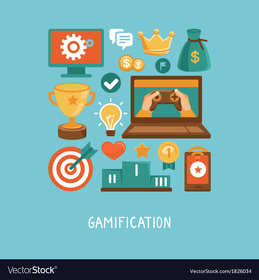 Flat concept - gamification vector | Price: 1 Credit (USD $1)