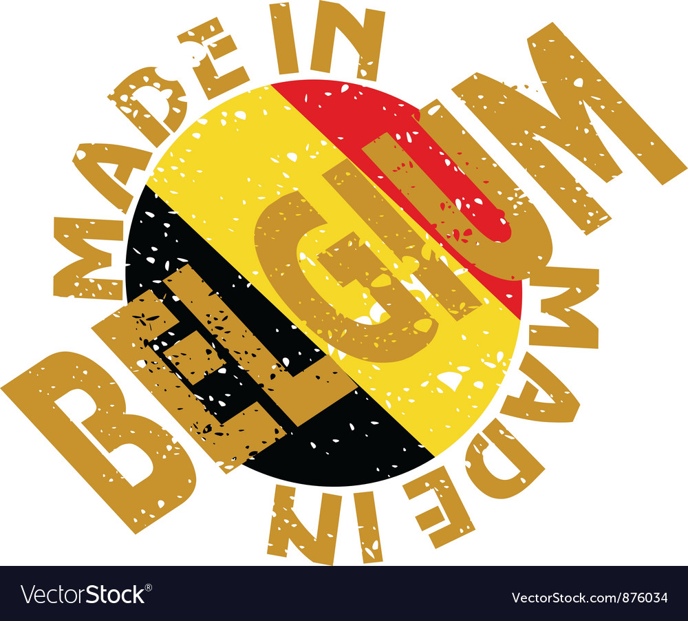 Label made in belgium vector | Price: 1 Credit (USD $1)