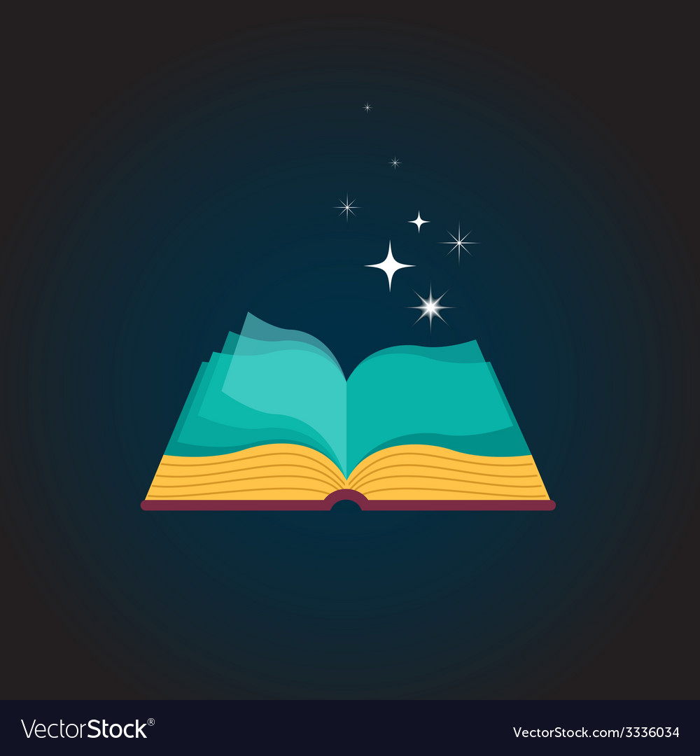 Open book concept design vector | Price: 1 Credit (USD $1)