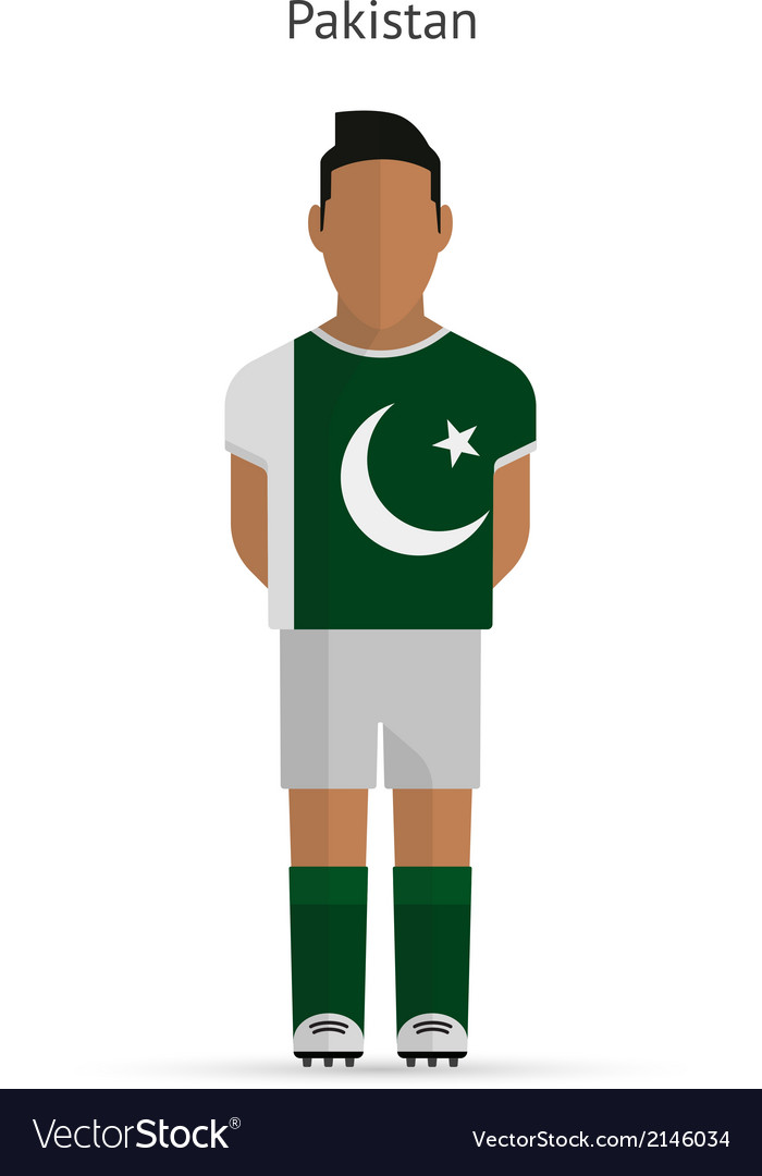 Pakistan football player soccer uniform vector | Price: 1 Credit (USD $1)