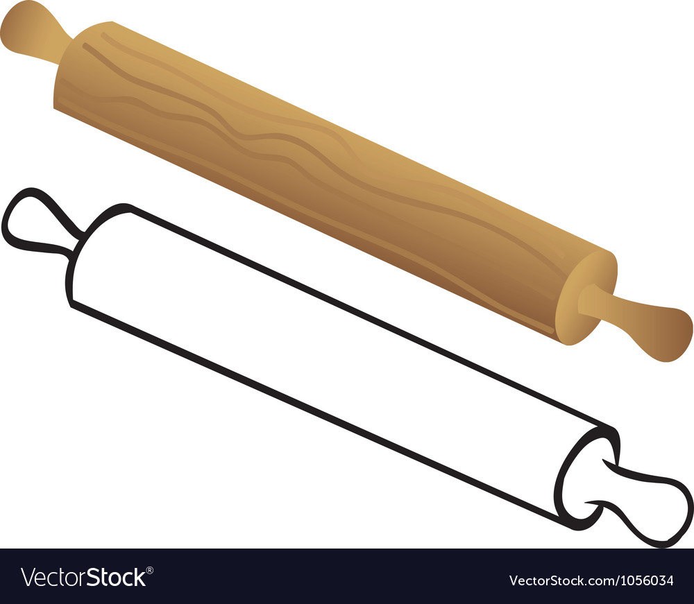 Rolling pin for dough vector | Price: 1 Credit (USD $1)