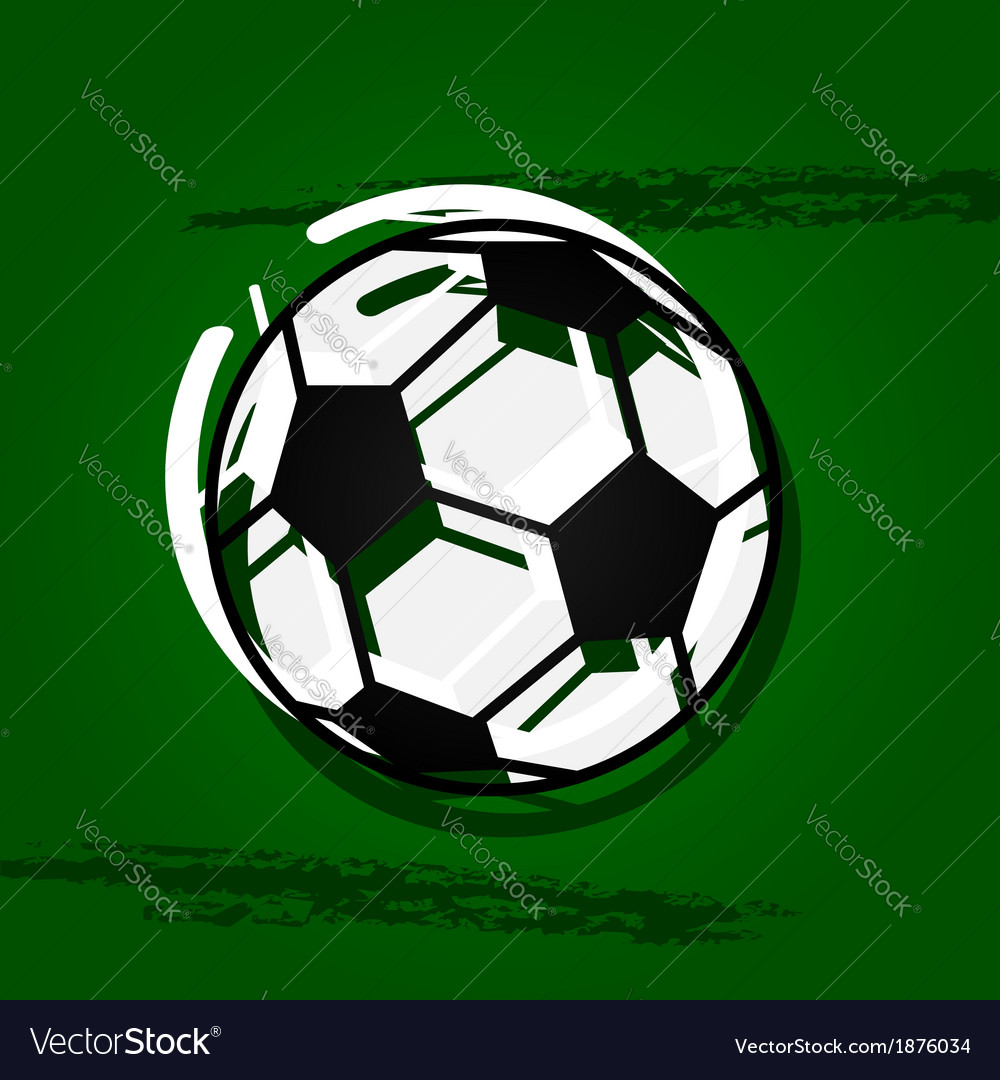 Stylized soccer ball vector | Price: 1 Credit (USD $1)