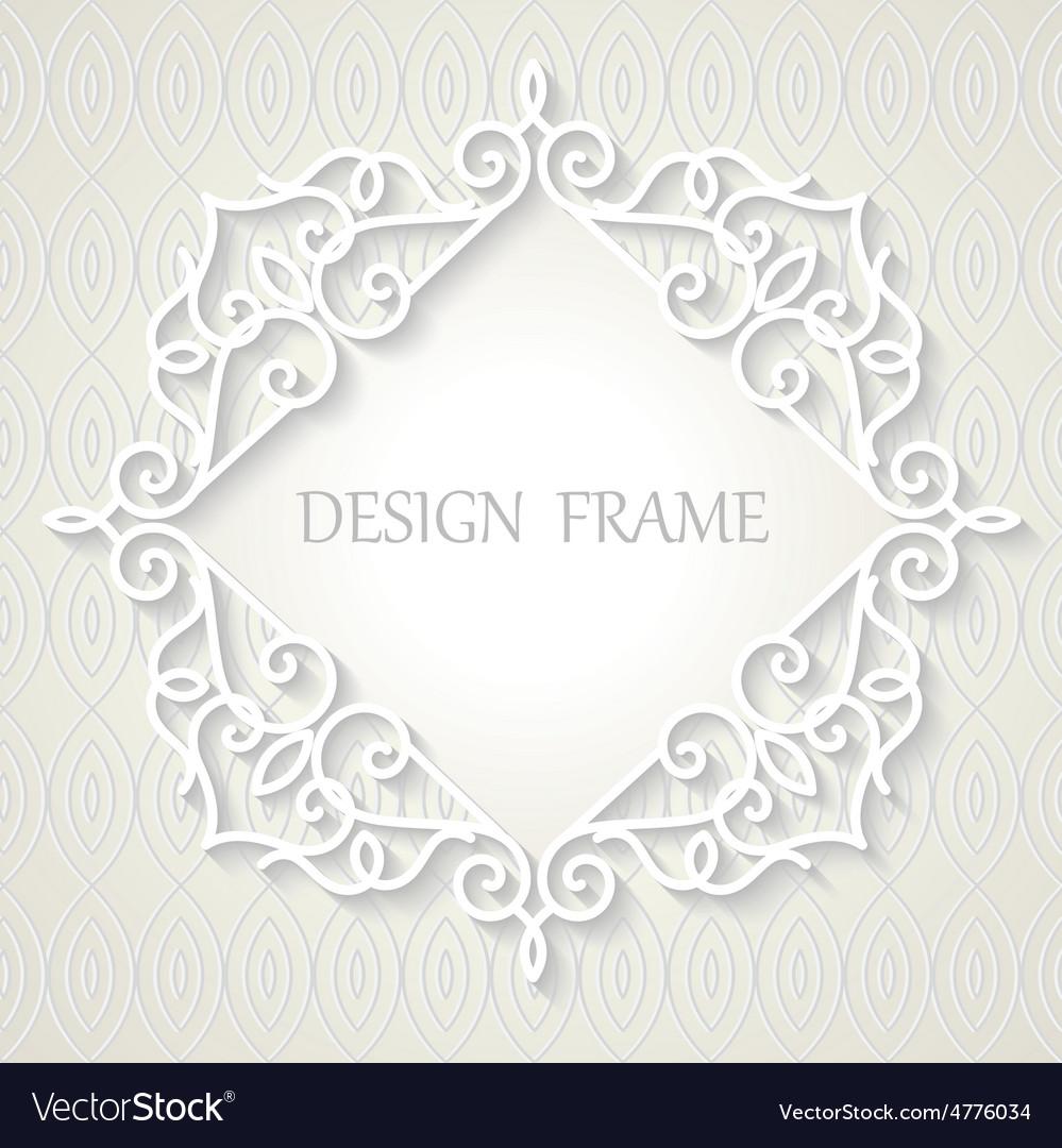 Vintage paper frame vector   Price: 1 Credit (USD $1)