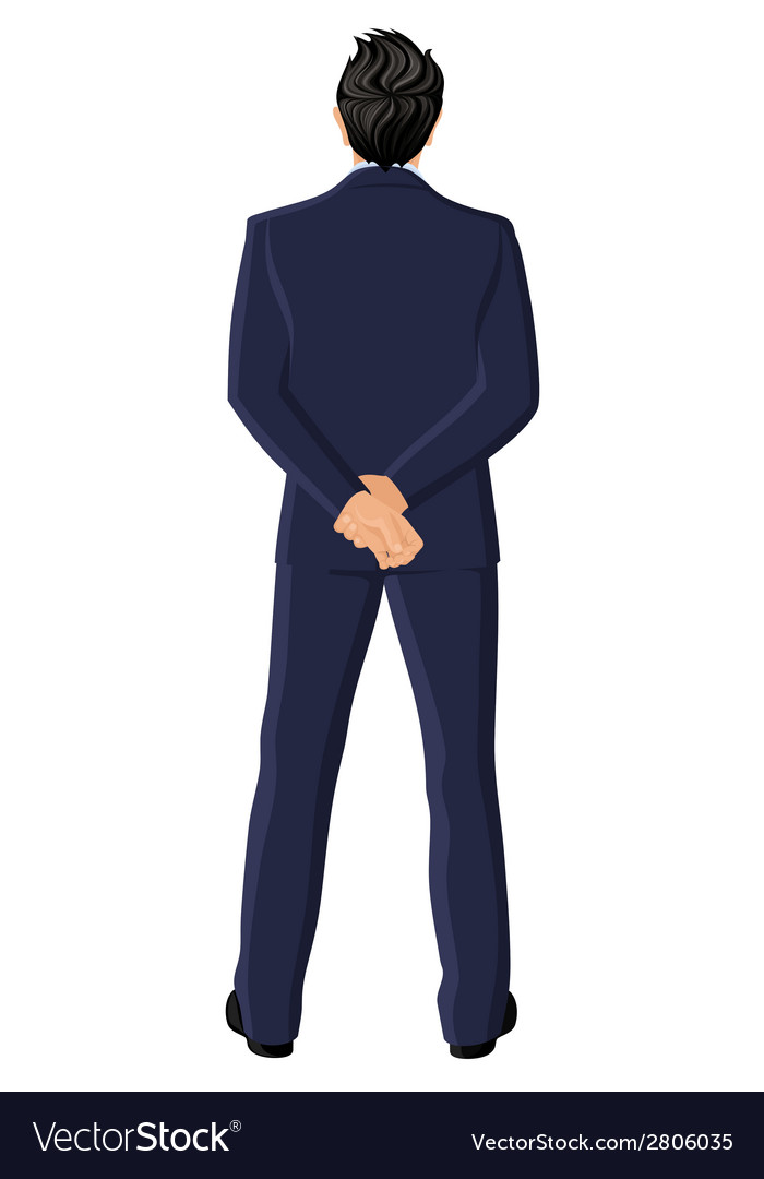 Businessman back view vector   Price: 1 Credit (USD $1)