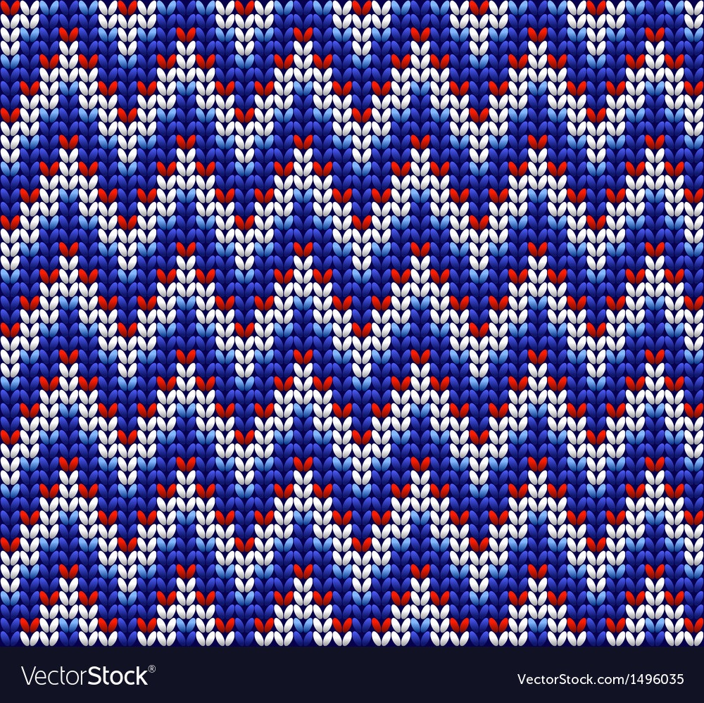 Color knitted wool pattern background vector | Price: 1 Credit (USD $1)
