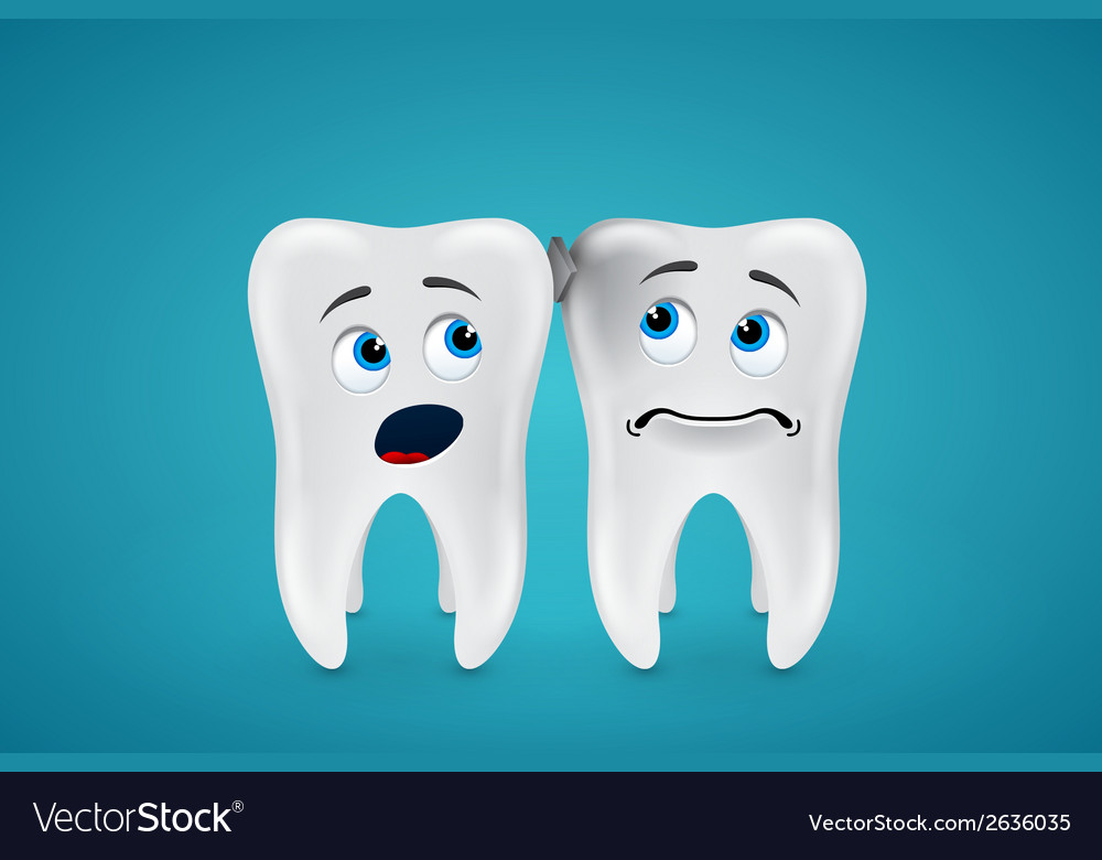 Debris stuck between the teeth and they are afraid vector | Price: 1 Credit (USD $1)