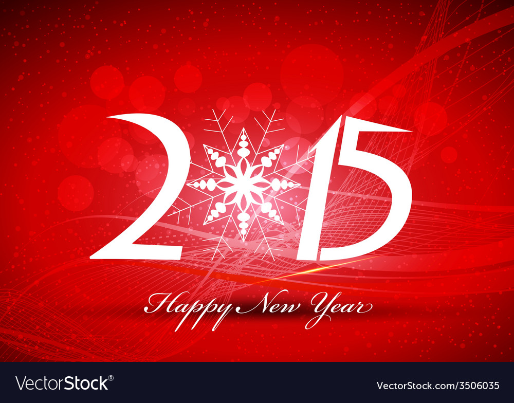 Happy new year abstract background with snowflakes vector | Price: 1 Credit (USD $1)
