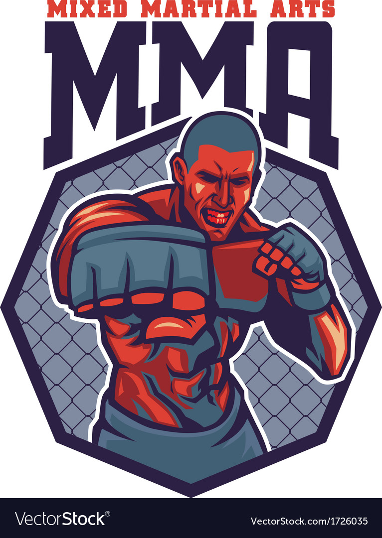 Mma fighter punch vector | Price: 3 Credit (USD $3)