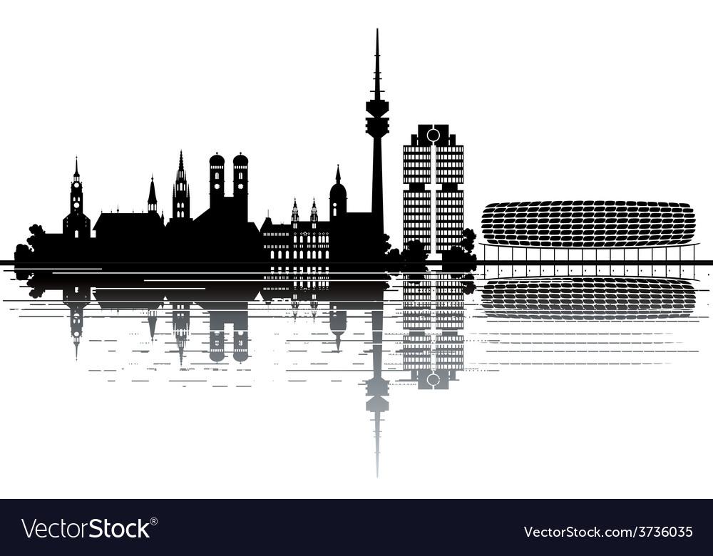 Munich skyline vector | Price: 1 Credit (USD $1)