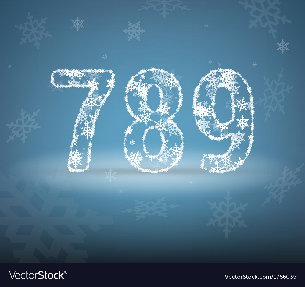 Numbers made from snowflakes vector | Price: 1 Credit (USD $1)