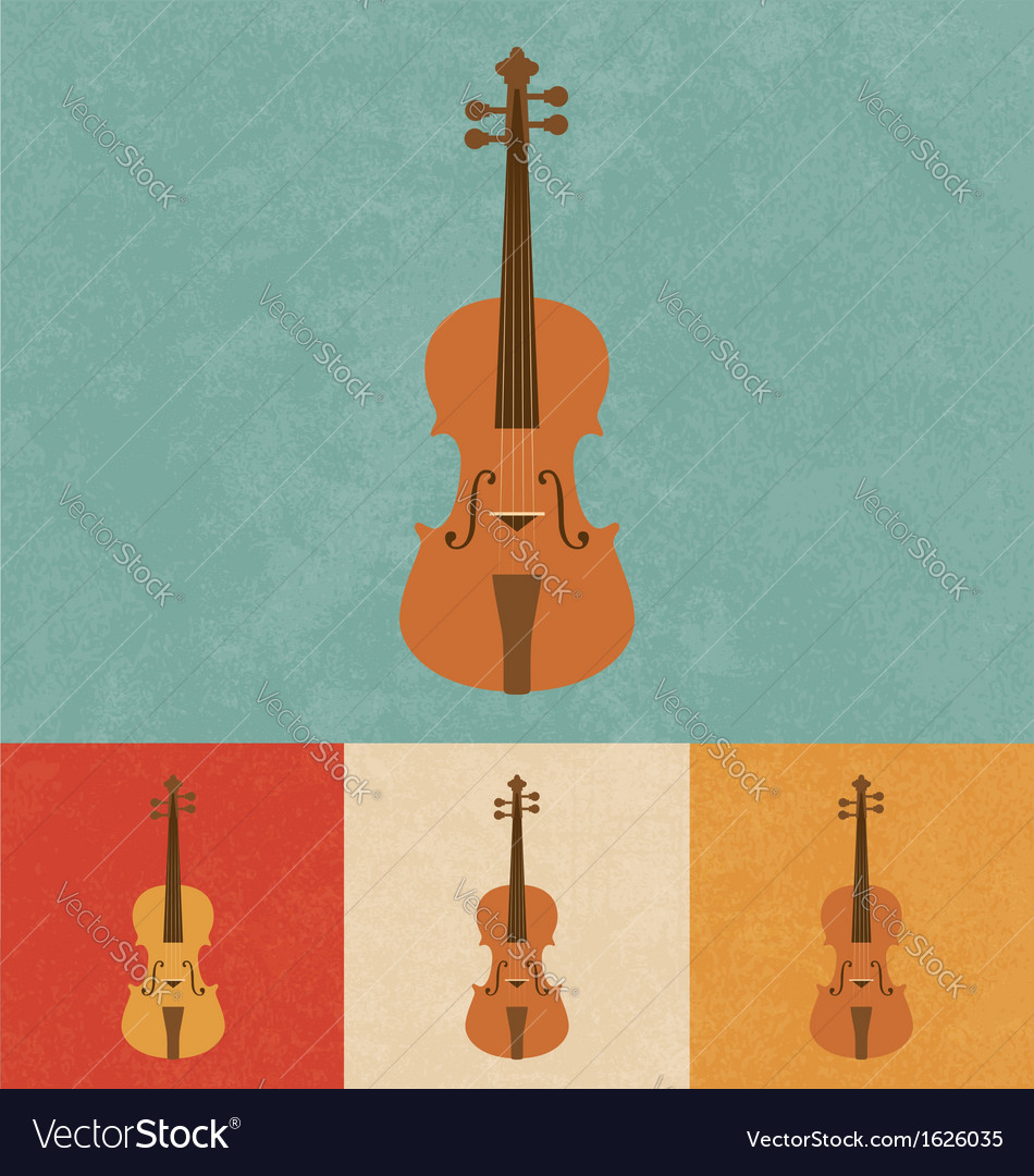 Retro violin vector | Price: 1 Credit (USD $1)