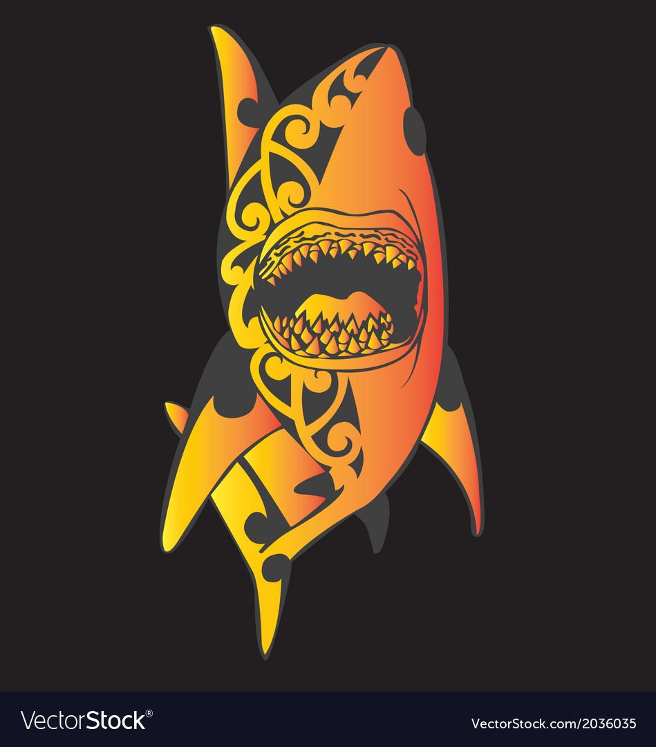 Shark tribal tattoo vector | Price: 1 Credit (USD $1)