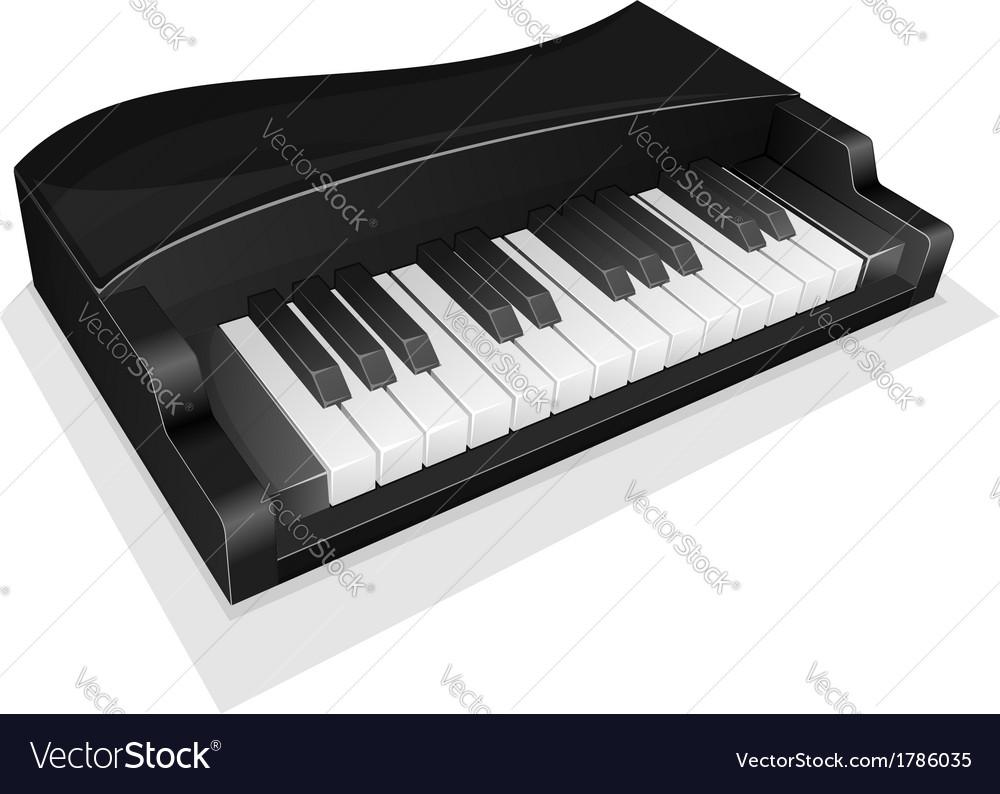 Small black piano vector