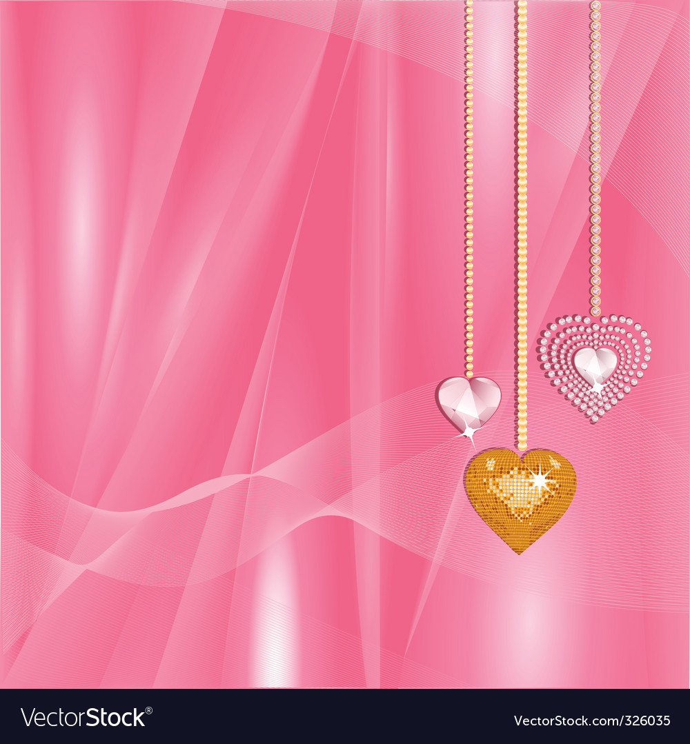 Valentine gold and diamond hearts vector | Price: 1 Credit (USD $1)