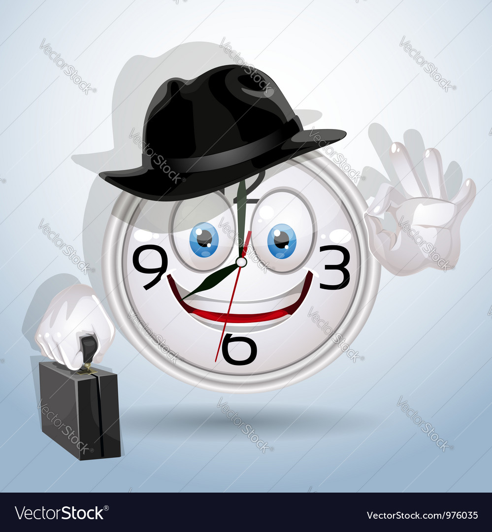 Watch smile ready for a new working day vector   Price: 3 Credit (USD $3)