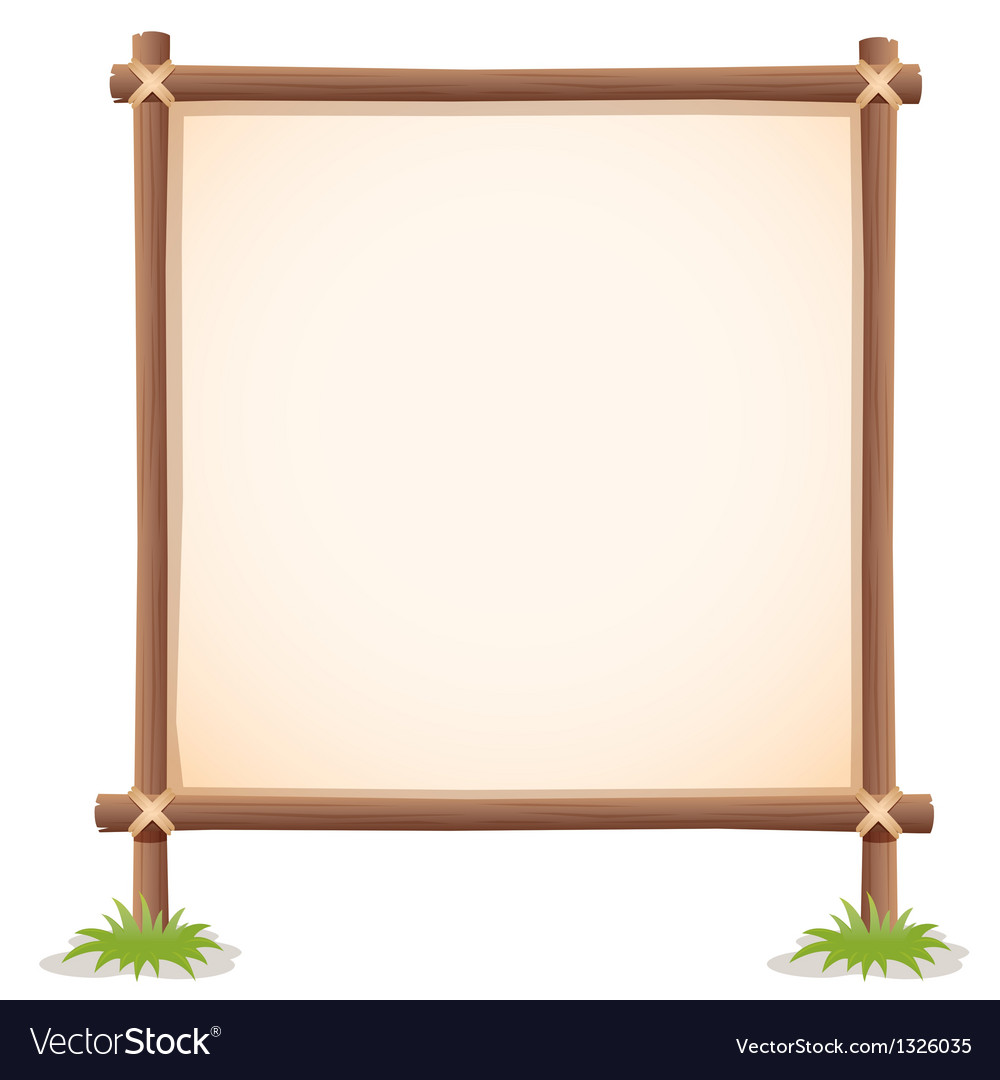 Wood sign white blank vector | Price: 1 Credit (USD $1)