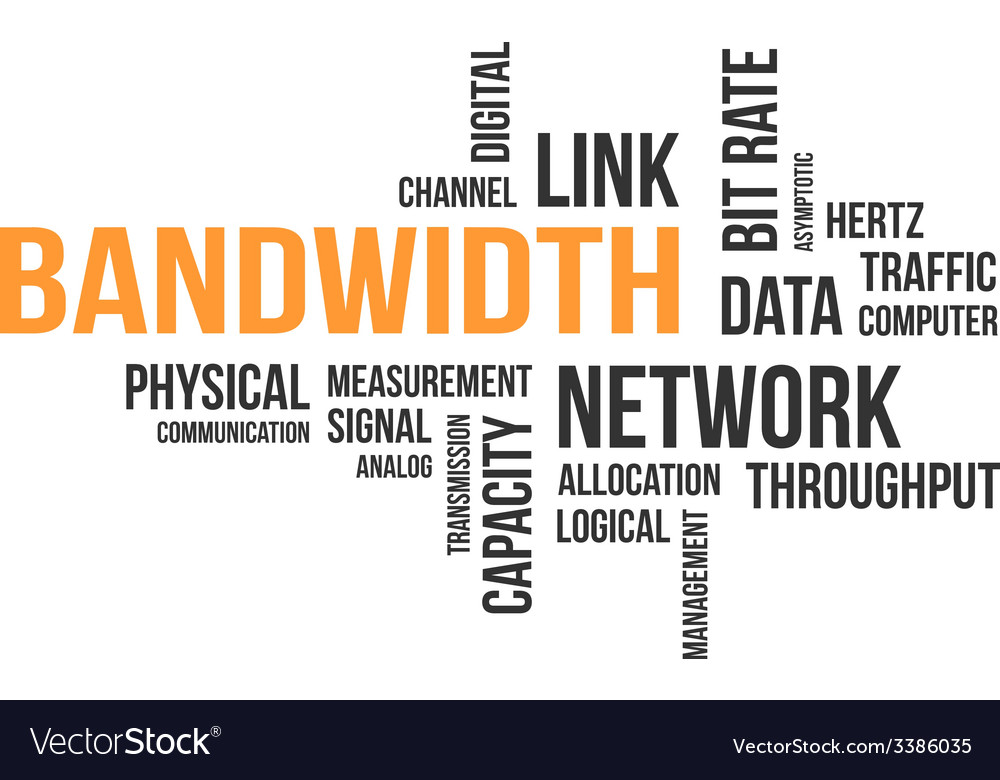 Word cloud bandwidth vector | Price: 1 Credit (USD $1)