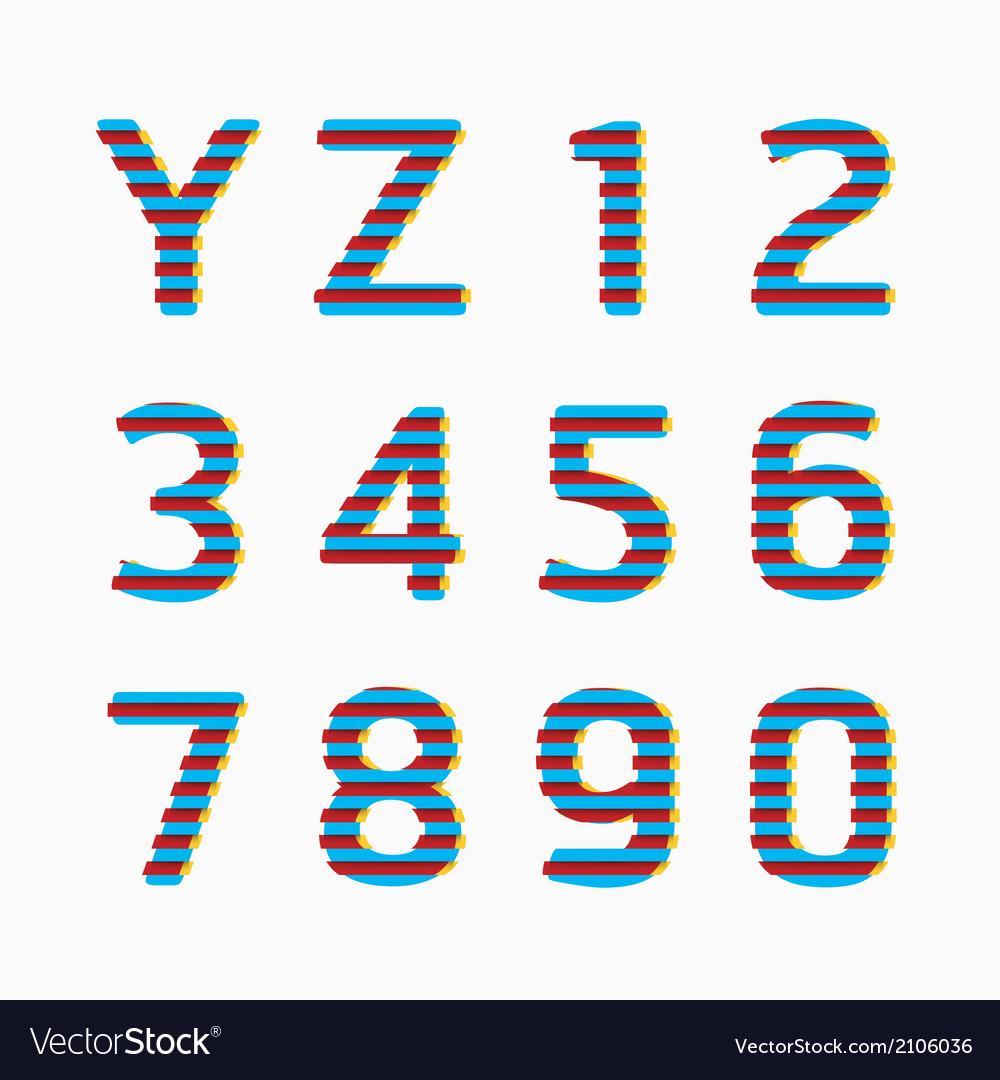 Alphabet modern paper line colour concept vector | Price: 1 Credit (USD $1)