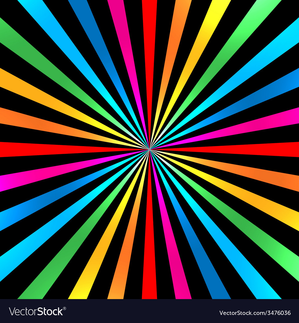 Colorful bright rainbow spiral background vector | Price: 1 Credit (USD $1)