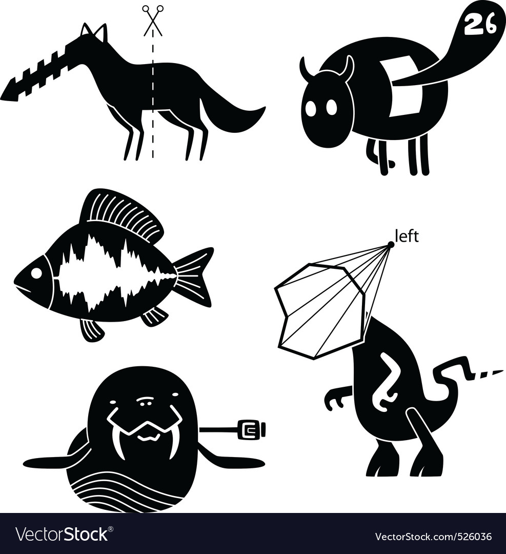 Crazy animals vector | Price: 1 Credit (USD $1)