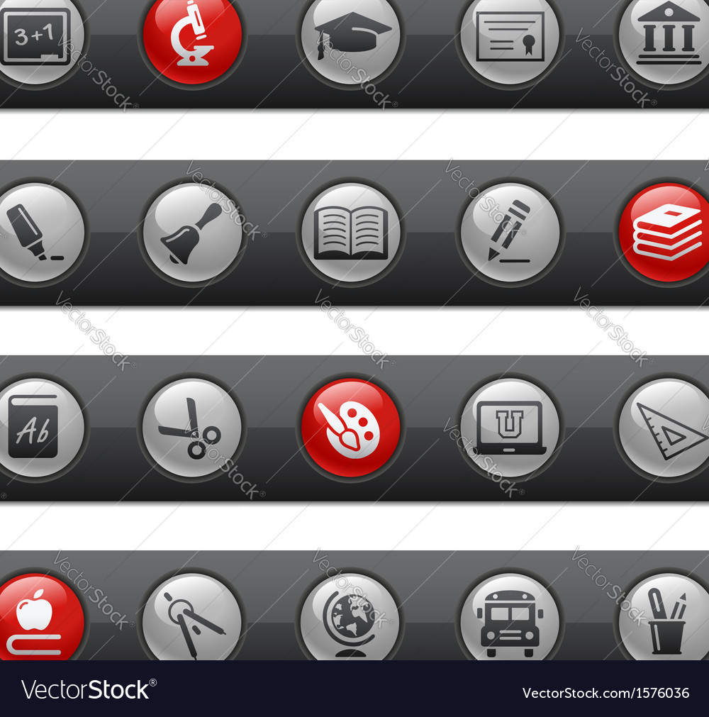 Education button bar series vector | Price: 1 Credit (USD $1)