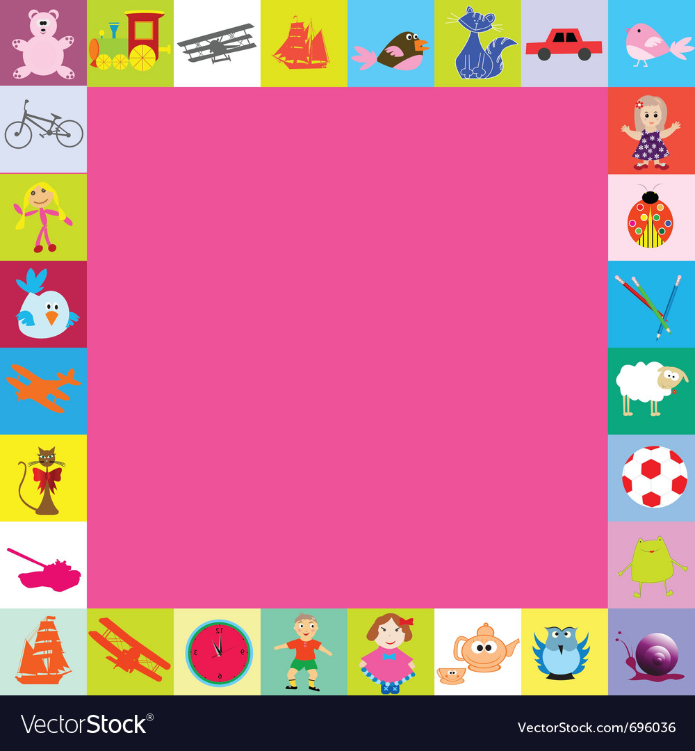 Frame with toys for kids vector | Price: 1 Credit (USD $1)
