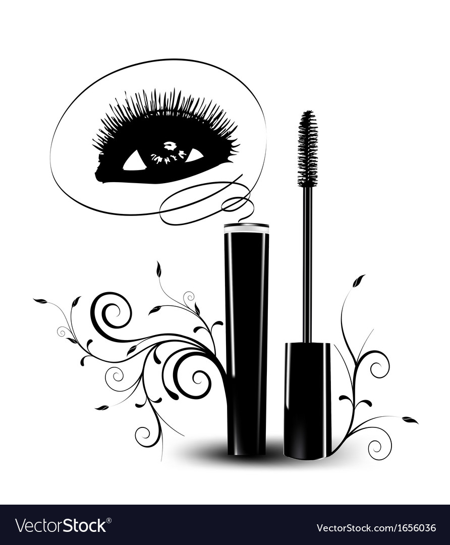 Ink for eyelashes with ornament vector | Price: 1 Credit (USD $1)