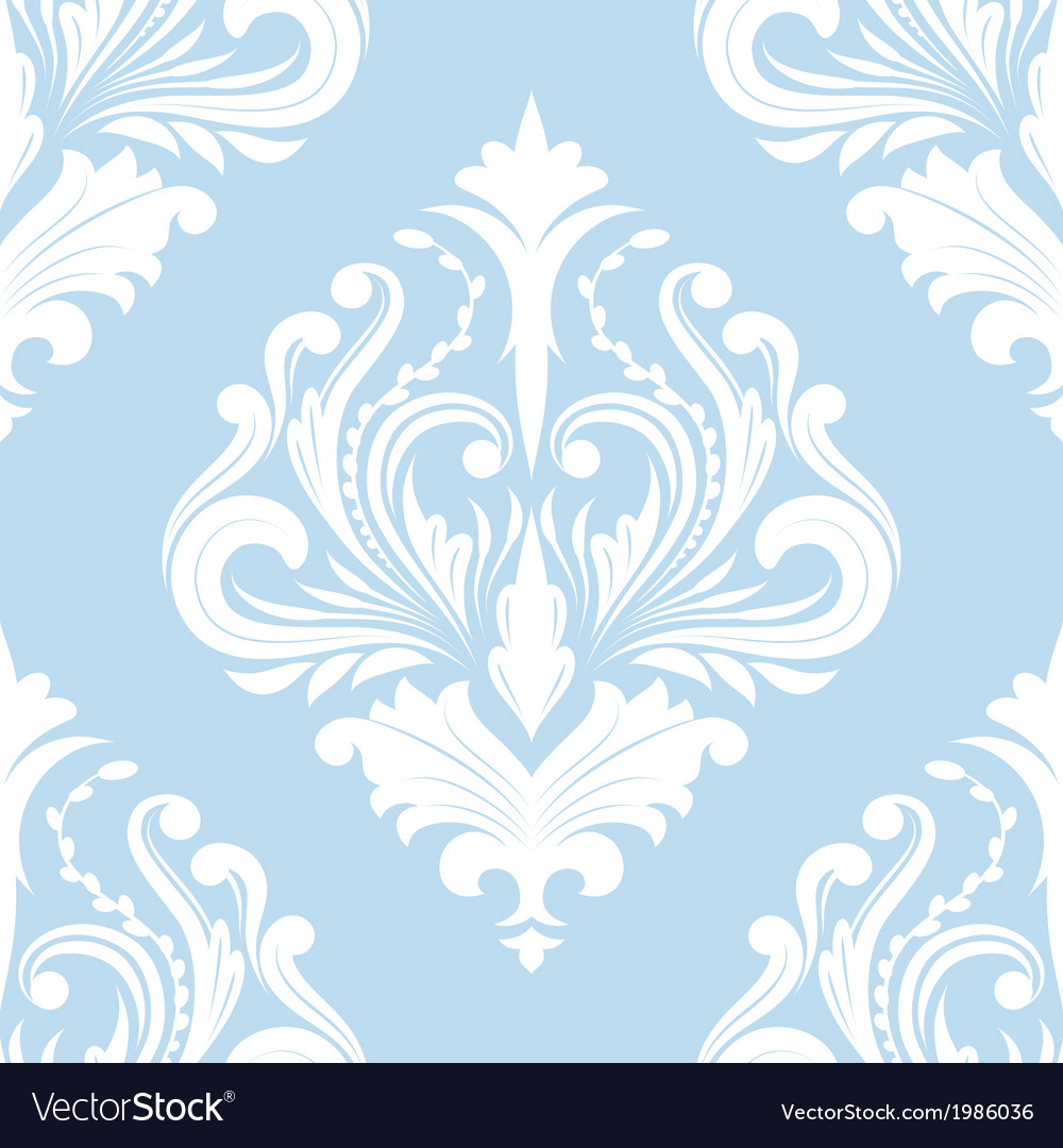 Pattern blue classic vector | Price: 1 Credit (USD $1)
