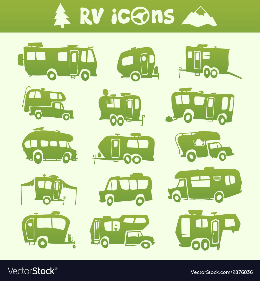 Recreational vehicle set vector | Price: 1 Credit (USD $1)