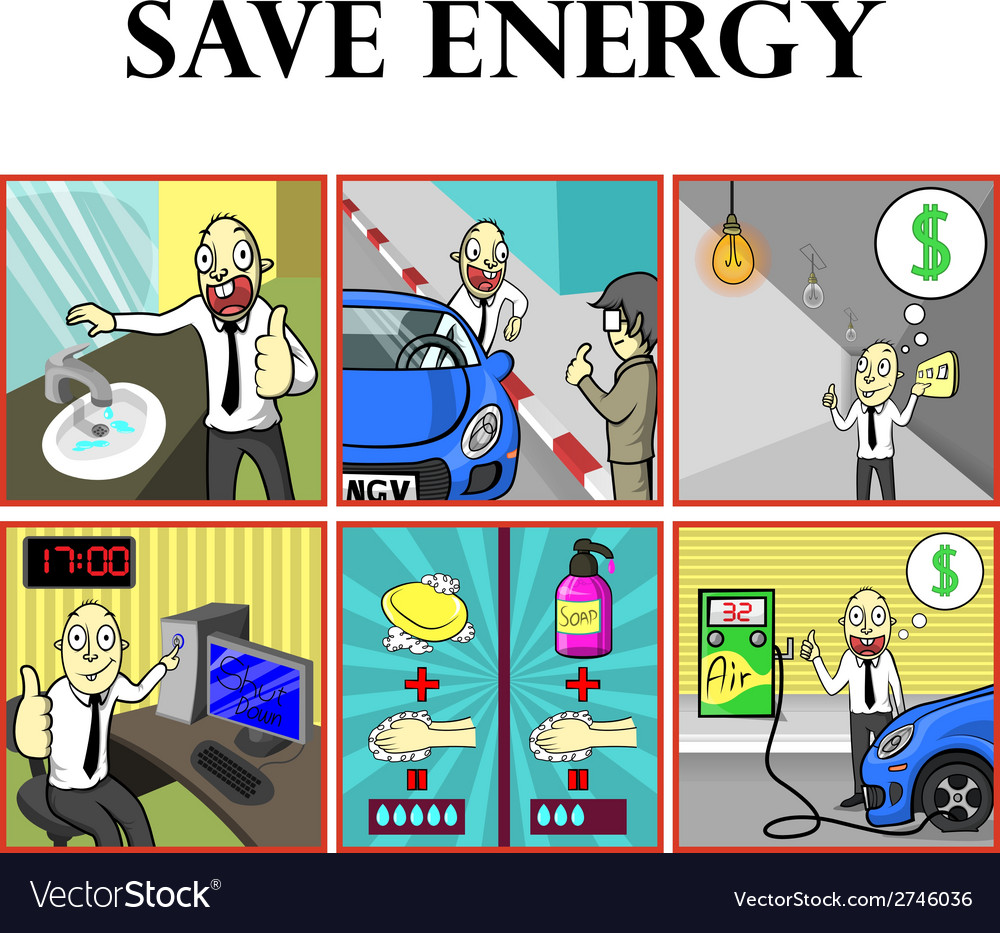 Save energy vector | Price: 1 Credit (USD $1)
