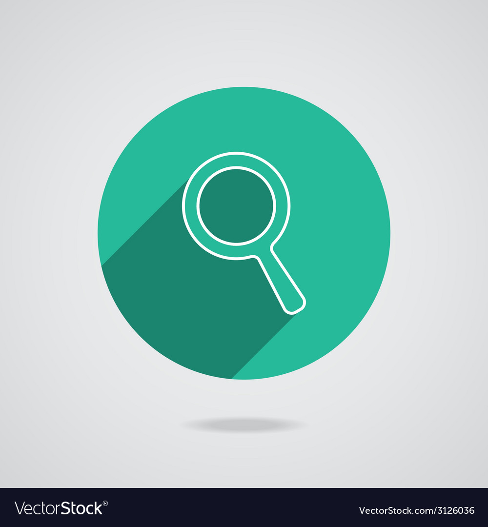 Search icon magnifying glass with long shadow vector | Price: 1 Credit (USD $1)