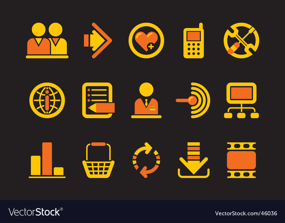 Website and internet icons vector | Price: 1 Credit (USD $1)