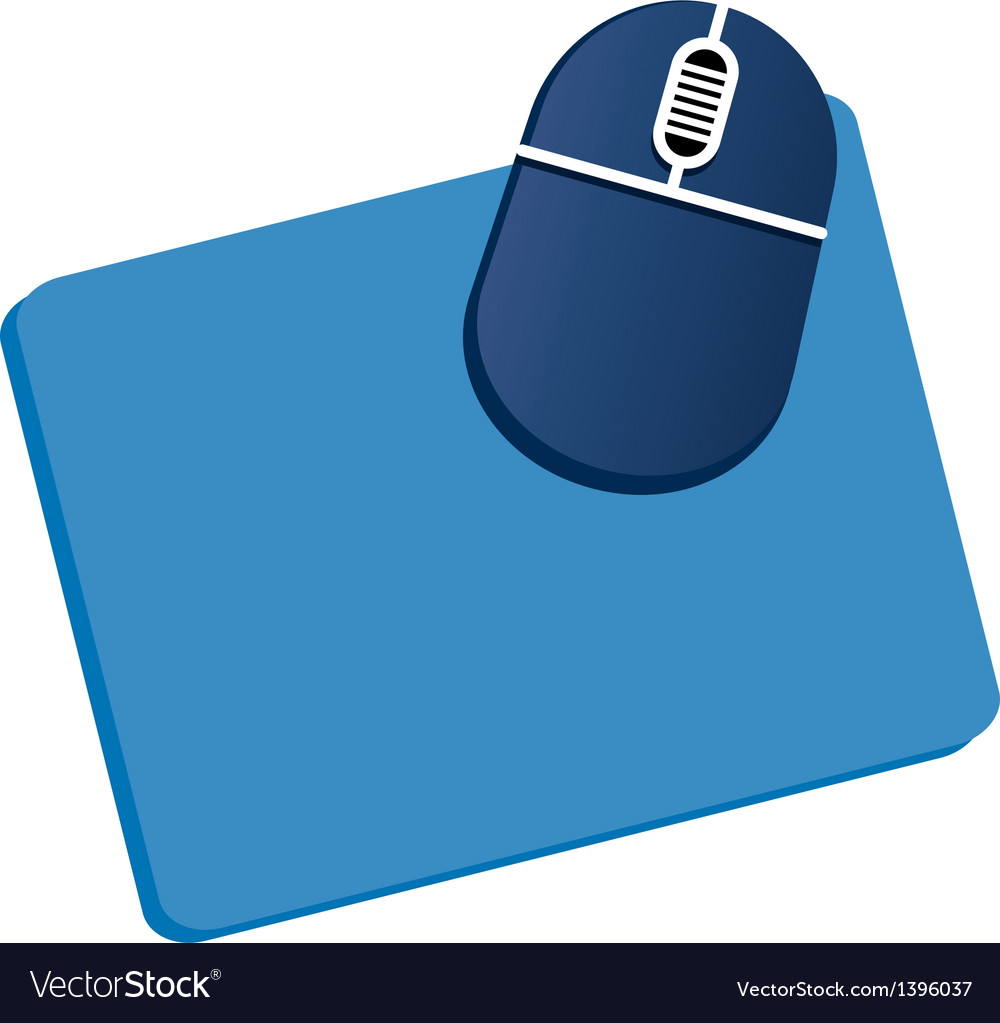 A mousepad is placed vector