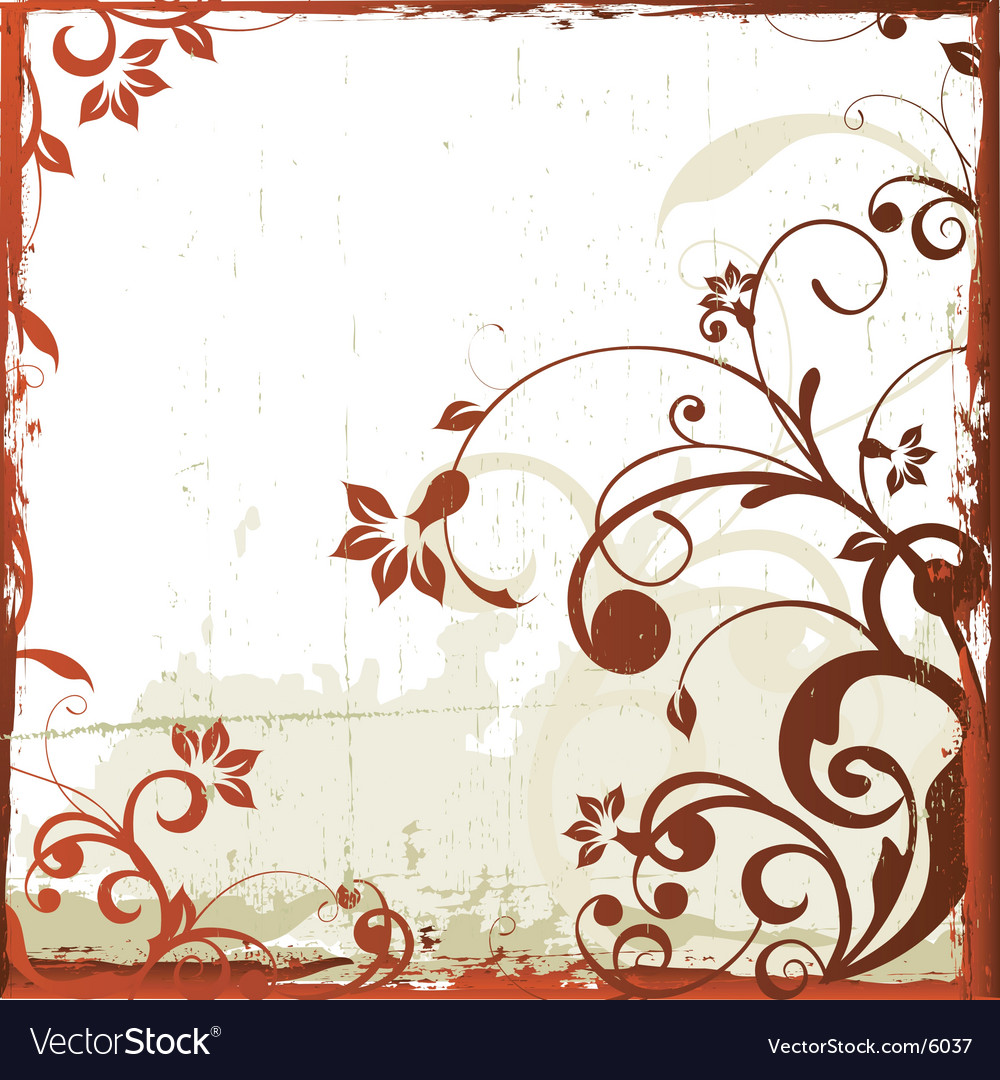 Antique floral grunge background vector | Price: 1 Credit (USD $1)