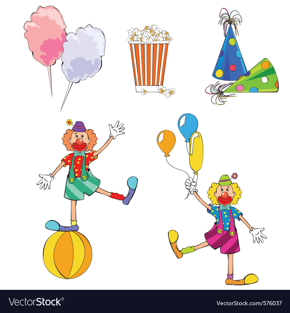Carnival set vector | Price: 1 Credit (USD $1)