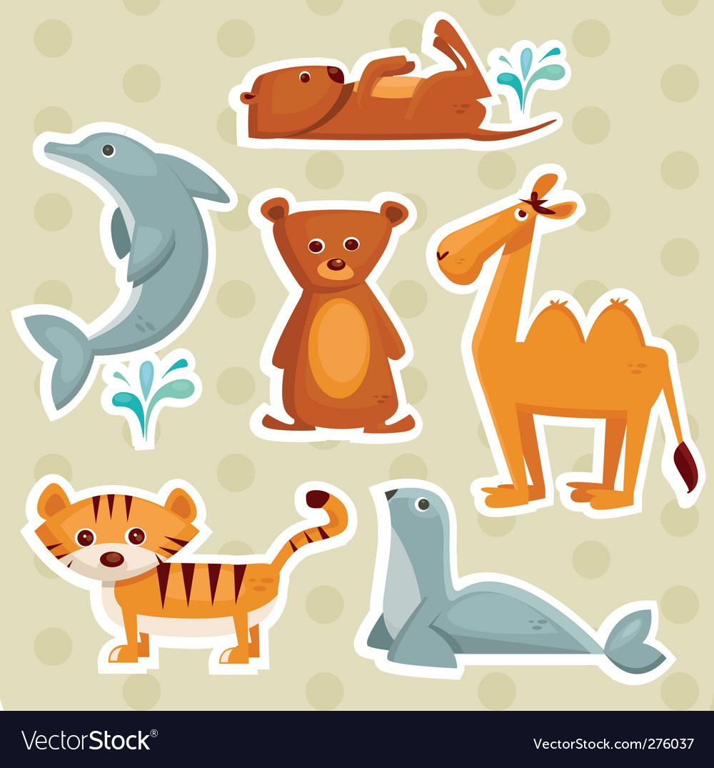 Cartoon animals vector | Price: 1 Credit (USD $1)