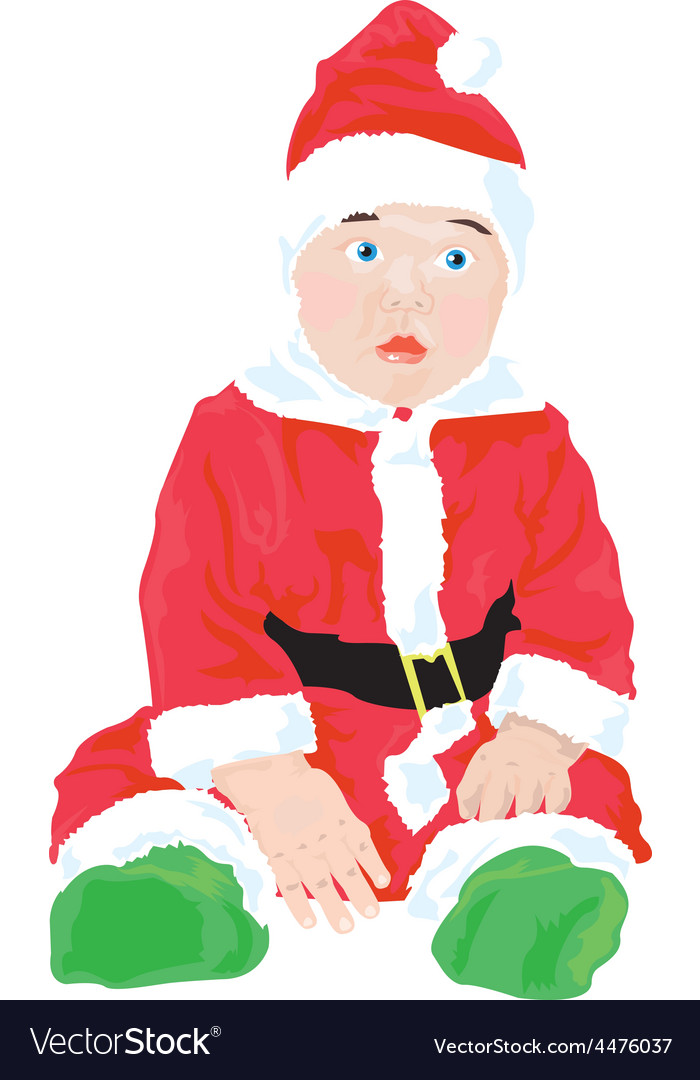 Christmas baby vector | Price: 1 Credit (USD $1)