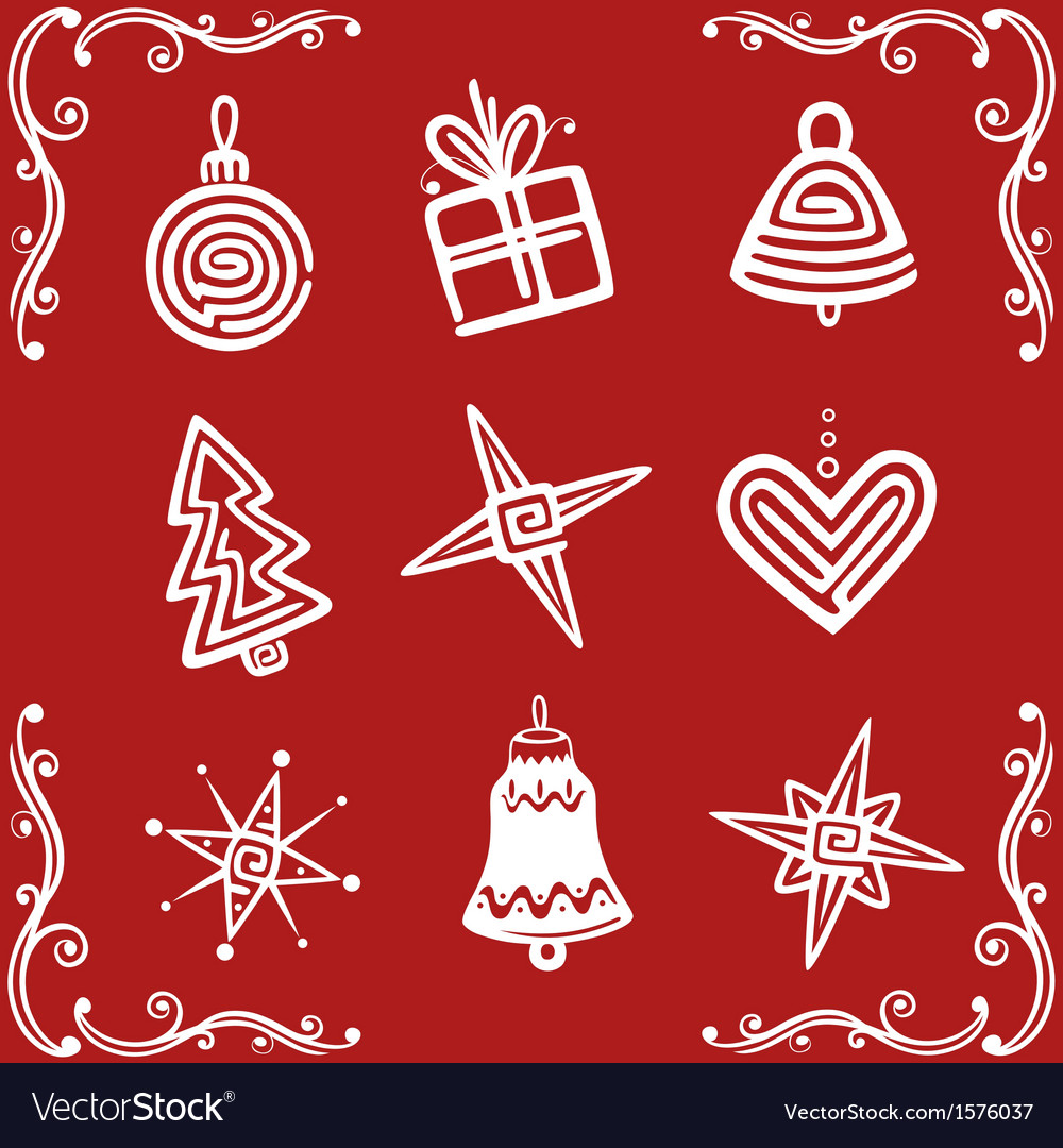 Christmas xmas design elements vector | Price: 1 Credit (USD $1)