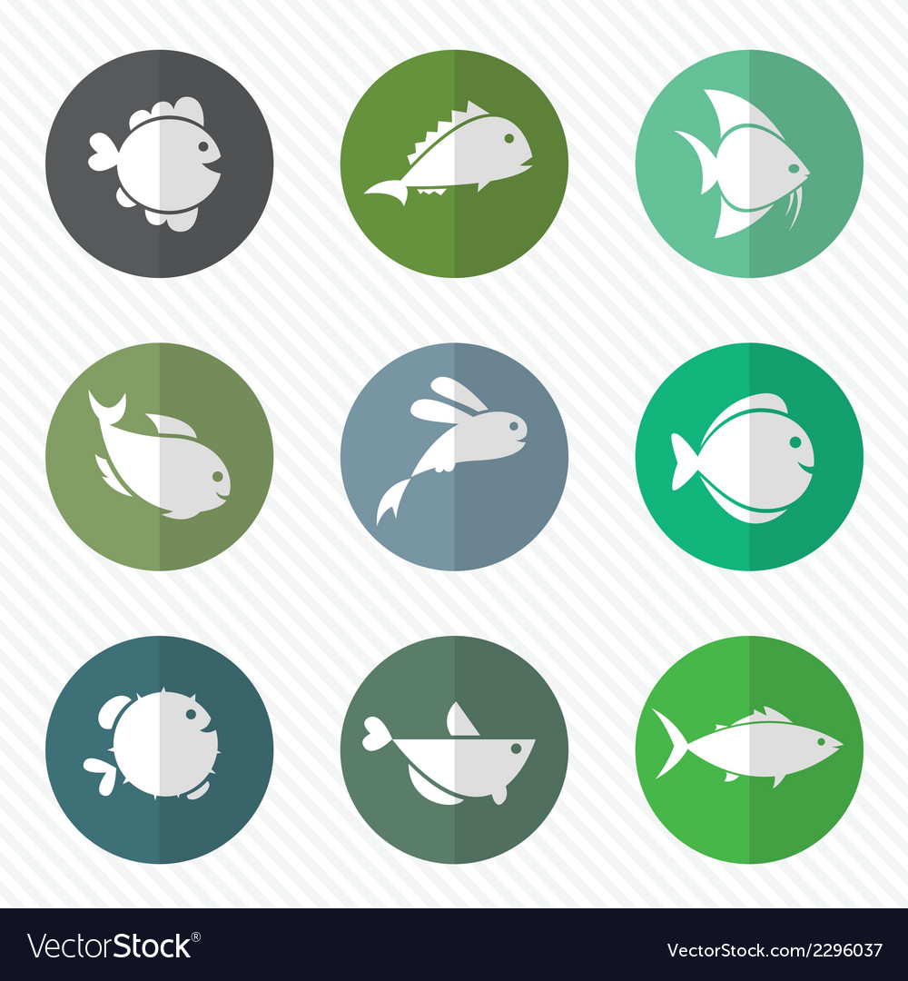 Group of fish in the circle vector | Price: 1 Credit (USD $1)